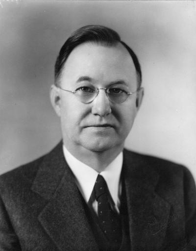 Donovan, Herman Lee, President, University of Kentucky, 1941 - 1956, birth 1887, death 1964, Photographer: McGaughey Studio, Richmond