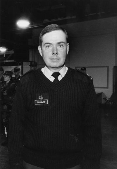 Douglas, Major John, Director, University of Kentucky, Reserve Officer Training Corps (ROTC), photograph featured in April 9, 1992