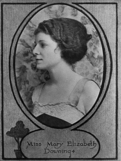 Downing, Mary Elizabeth, Alumna,, photo featured in 1921