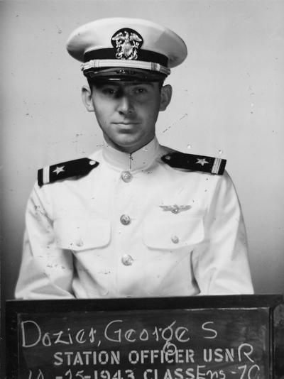 Dozier, George S., Professor, Clinical Medicine, pictured here as Station Officer with United States Navy, 1943