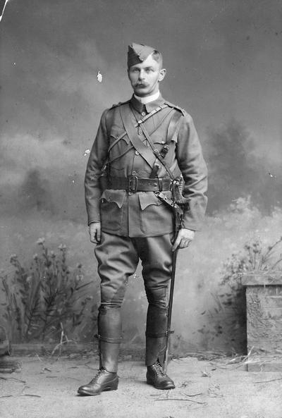 Ellershaw, Edward, Alumnus, 1889, pictured in uniform, Photographer: Able Lewis and Son