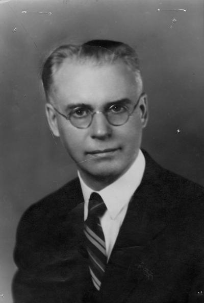 Evans, Alvin Eleazer, Professor and Dean, College of Law, 1926 - 1948, Emeritus, 1948 - 1953, birth 1880, death 1953