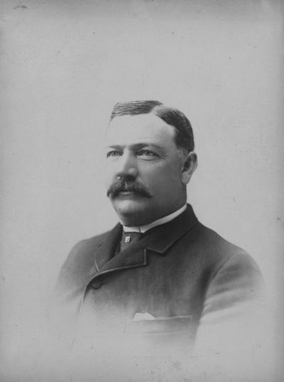 Frazee, David F., Member, Board of Trustees, 1897 - 1909, Frazee Hall named for him, Photographer: Marceau, Cincinnati