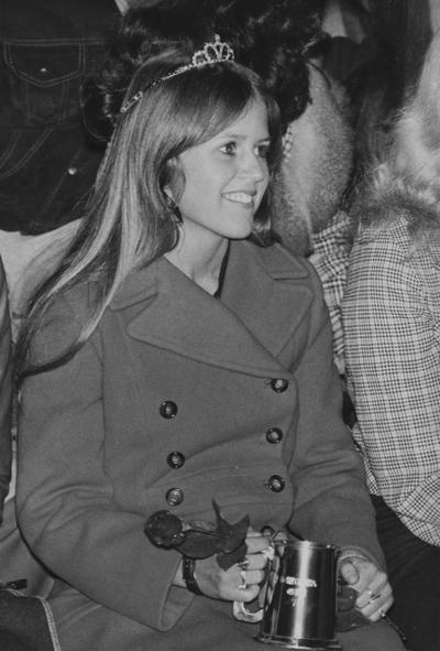 Gatewood, Gail, Alumna,, Homecoming Queen, November, 1974, University Information Services