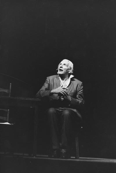 Geer, Will, portraying Robert Frost during the Festival of the Arts, 1967