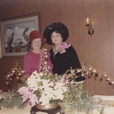 Grable, Queenie, Administrative Assistant to Dean of the Graduate School, pictured (right) with Cleo Dawson Smith at the Women's Club of Central Kentucky, January 6, 1973
