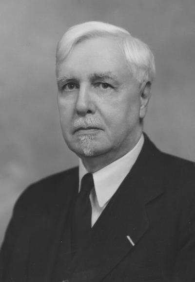 Graham, James Hiram, birth 1879, death 1960, Dean Emeritus of College of Engineering, 1935 - 1946, Photographer: Adam Pepiot Studio