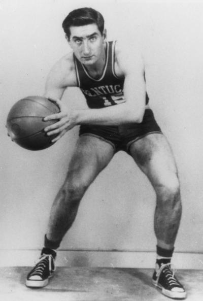 Groza. Alex, Member of the Fabulous Five basketball team with Adolph Rupp # 15