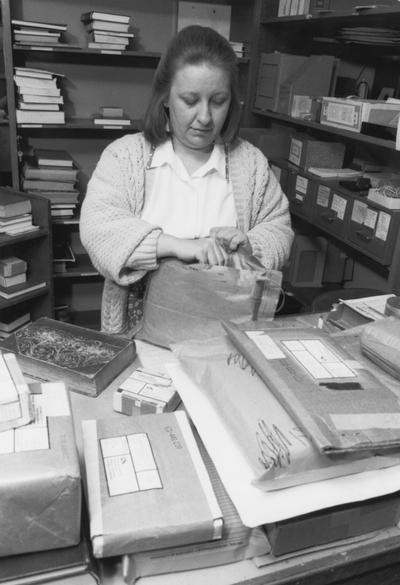 Hale, Barbara,, librarian working in Inter Library Loan, Communi-K