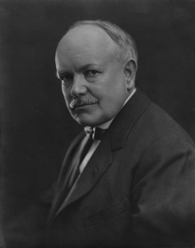 Anderson, F. Paul, Dean of Mechanical Engineering, 1892 - 1918, Dean of Engineering, 1918 - 1934, birth 1867, death April 8, 1934, Photo printed on card labeled
