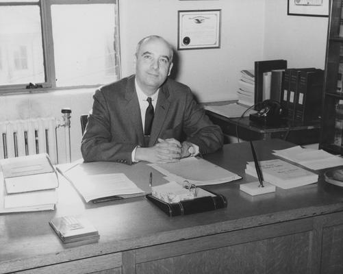 Ham, Willburt, Professor of Law, Photograph featured in Kentuckian, Public Relations Department