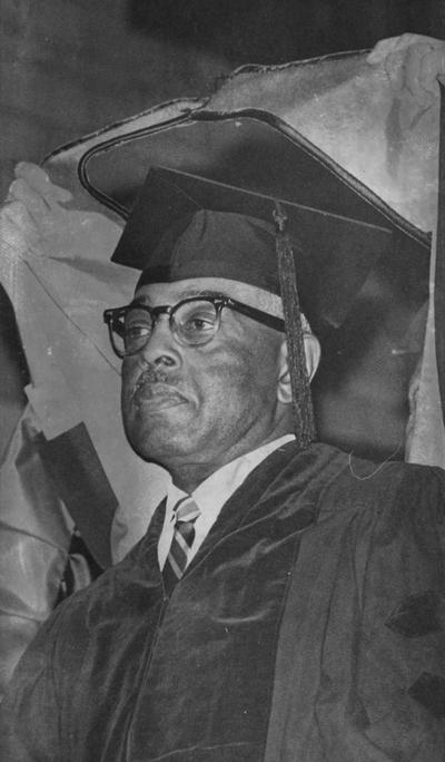 Hill, Carl M., Receives an Honorary Degree, photographer: Lexington Herald Leader Staff