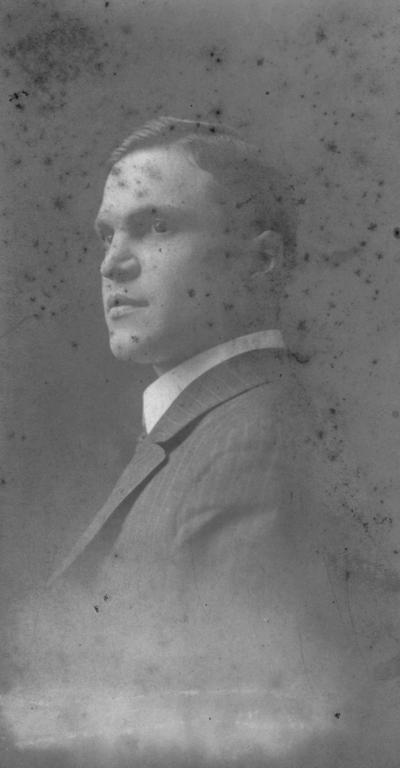 Hollcroft, Temple R., Professor of Mathematics,1913-1915, Photograph donated by Emma Hunt November, 10, 2001