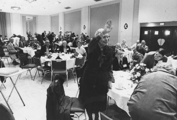 Holmes, Sarah Bennett, born 1886, University of Kentucky Dean of Women 1944-1957, at 1980 Homecoming