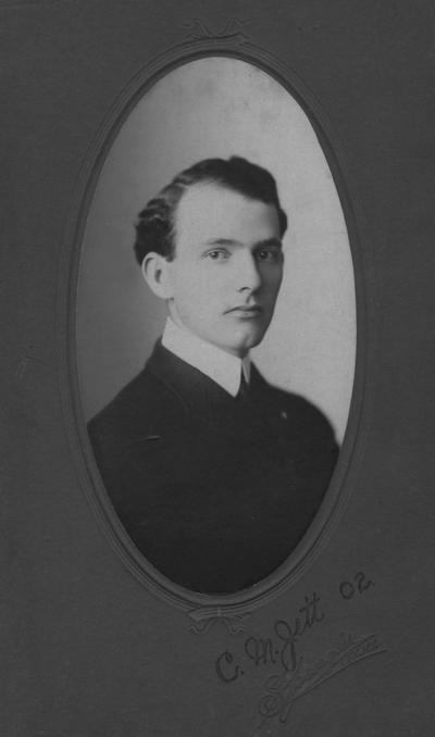 Jett, Charles M., 1902 alumnus, Photographer: Spengler Lexington, Ky