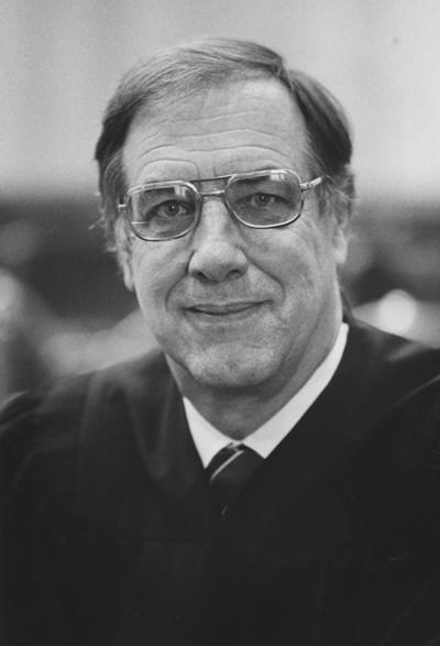 Johnstone, Edward H., J.D.'49-University of Kentucky, District Judge 1977, Photographer: Courier Journal and Louisville Times, Photographer: Larry Spitzer