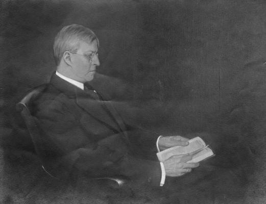 Kastle, Joseph Hoeing, Professor of Agriculture 1912-1916, Director of Agriculture Experiment Station, seated, lateral view