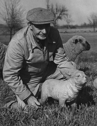 Barber, Harold J., head sheep herdsman, Photograper: Public Relations Department, John Mitchell, Lexington, KY