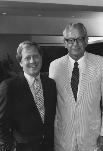 Lunsford, Bruce, member of Board of Trustees 1984 - 1987, pictured with Dr. Otis Singletary
