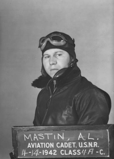 Mastin, A. L., Official United States Navy Photograph, Class 4 A-C, Aviation Cadet, U.S.N.R