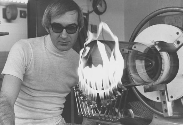 Mateyka, Wilbur, University of Kentucky's full time scientific glass blower