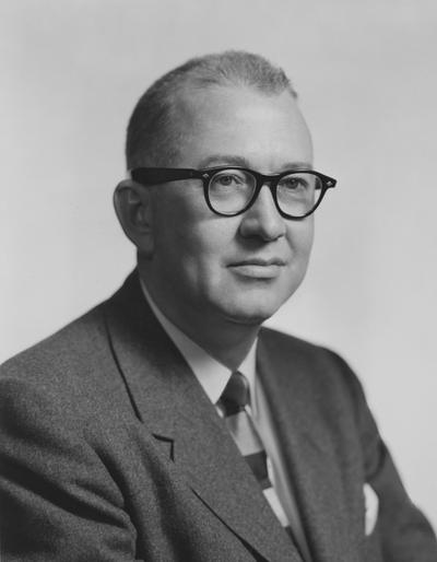 McDowell, Robert, 1935 alumnus,  President of McDowell Company, Inc., and Wellman Engineering Company, Cleveland Ohio, University of Kentucky Honorary Degree, photograph by Fabian Bachrach