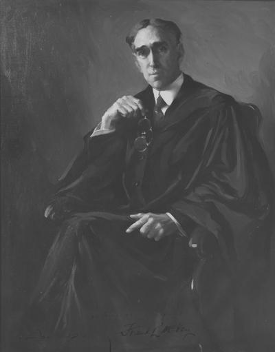 McVey, Frank L., birth 1869, death 1953, University of Kentucky President from 1917-1940, Painting