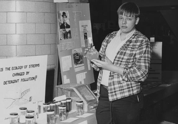 Morris, Mike, Model High School 1966 Fair Exhibit, from Public Relations Department