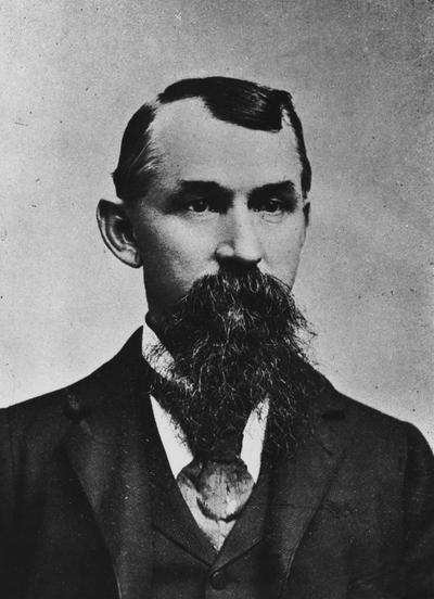 Munson, W. B., the first graduate of Agricultural and Mechanical College, from Dennison Texas, made from picture in report of Alumni Association 1899, printed in