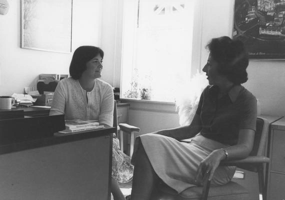 Newberry, Jane, Office of International Programs, pictured with Janet Wiedbke