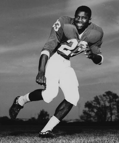 Northington, Nat, University of Kentucky African American football player pictured in his uniform