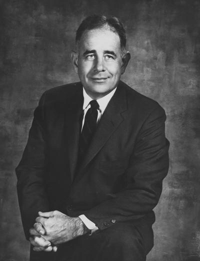 Oswald, John W., President at the University of Kentucky 1963-1968, Photographer: Public Relations Department