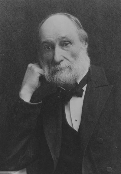 Patterson, James Kennedy,  b.1833-d.1922, the first President at the University of Kentucky 1879-1910, and Presiding Officer 1968-1878, photographer Rockwood