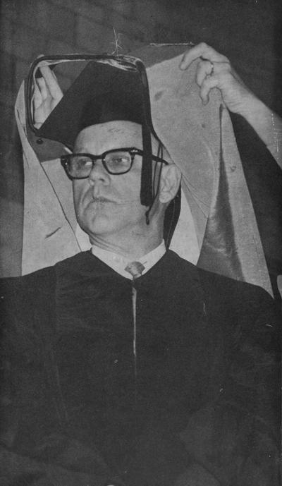 Blackerby, Philip E., shown receiving an honorary degree, photographer: Lexington Herald - Leader staff