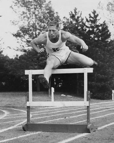 Blasingame, Ray, 1958 Southeastern Conference high and low hurdles  champion, Public Relations Department