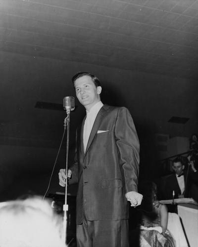 Boone, Pat, Visiting singer, Public Relations Department, Photograph featured in 1957