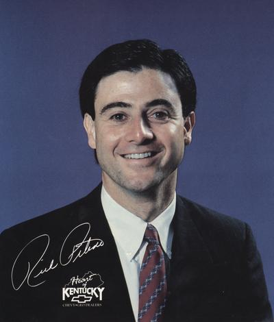 Pitino, Rick, Head basketball coach for the University of Kentucky basketball team, received 11/27/1990