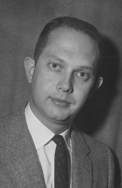 Profitt, John Richard, Assistant Dean of Men, photograph by Ted W
