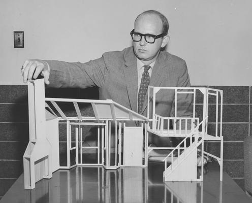 Rainey, Arch, part time instructor in English, Technical Director of Guignol Theatre, effective September 1, 1956, Rainey designed many of  the sets during his tenure, he was in radio arts for one year before becoming Instructor-Technical Director of Guignol, from Public Relations Department