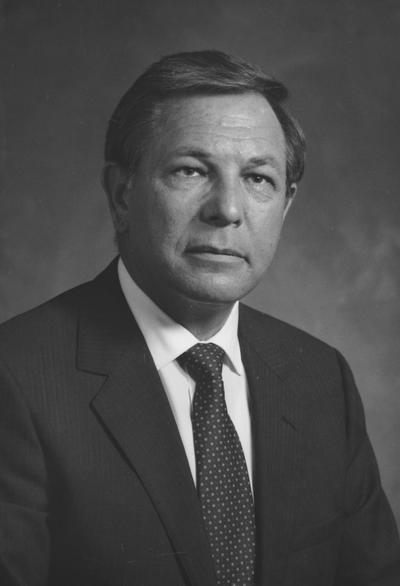 Rose, James, L. attended the University of Kentucky, coal company owner and operator and businessman, Member of the Board of Trustees 1985 - 1994, photographer: Jack Coleman