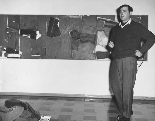 Sauls, Fred, Professor of Art Department, Visiting sculptor in the University of Kentucky Art Department, from Public Relations Department