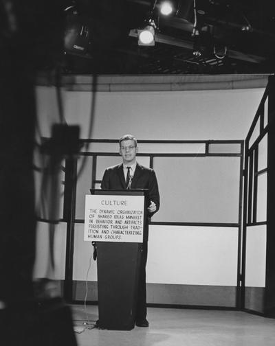 Schwartzt, Dr. Douglas W., Professor of Anthropology, televised class
