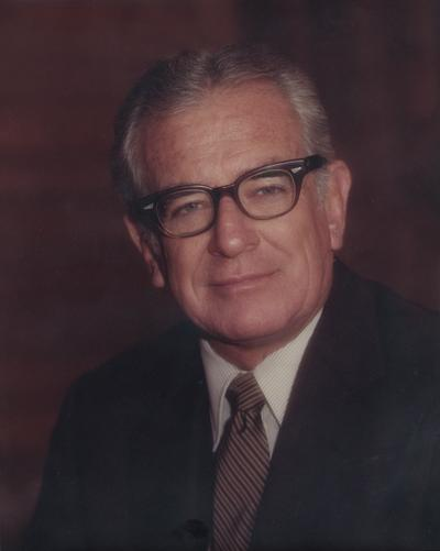 Singletary, Otis A., University of Kentucky President 1969-1987, Photographer: Walden's House of Photography