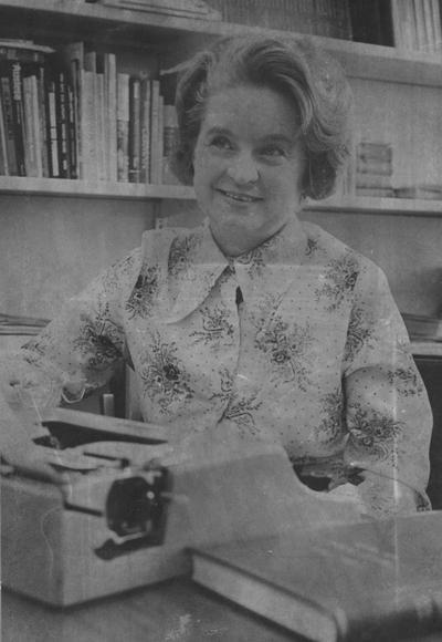 Solbrig, Ingeborg Hildeard, Assistant Professor of German, from Communi-K, from Public Relations Department