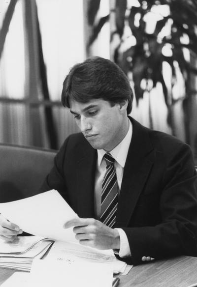 Bradford, David, Alumnus, 1983 - 85 Student Government Association President and Board of Trustees member