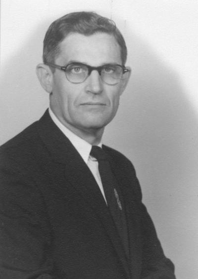 Survant, William, 1931 alumnus, Professor of Agriculture photograph by Ranson Studios, from Public Relations Department