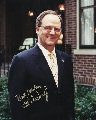 Todd, Lee T., University of Kentucky President, 2001 -, photograph signed by President Lee T. Todd