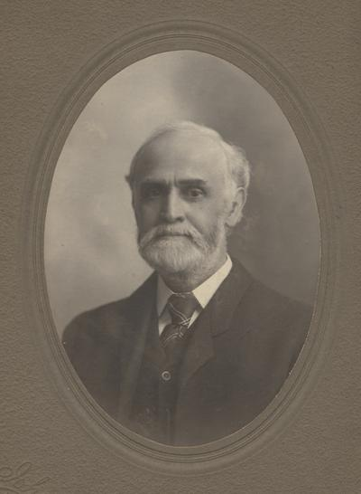 White, James G., born 1846, death 1913, Professor of Mathematics and Astronomy 1896-1913, Acting President in 1910