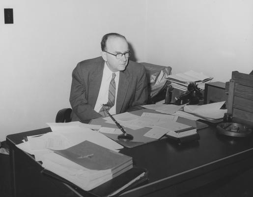 White, Martin, Dean of College of Arts and Sciences, pictured in 1957 Kentuckian