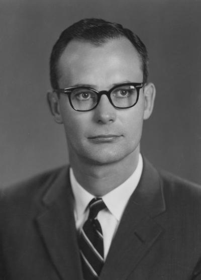 Wichman, William W., 1947 alumnus and Professor of Agricultural Engineering, photograph by Lively Studio, from Public Relations Department